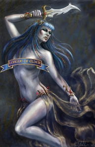 Princess Marilith of Xandarr with her knife Moonglow (Carol Phillips)