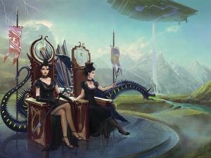 Trimble was once ruled by two queens, Queen Xo of the House of Sevarr and Queen Ghome (Fantasio)
